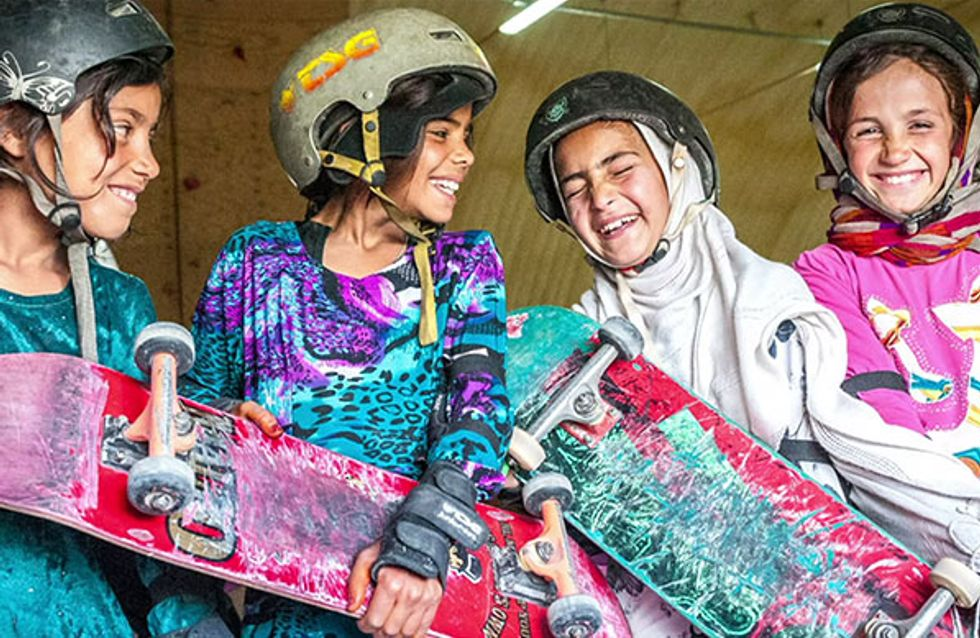 Las niñas afganas también practican skate