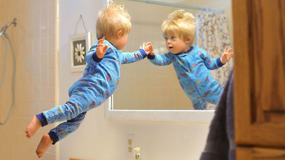 Un padre hace volar a su hijo con síndrome de Down en una serie de fotografías entrañables