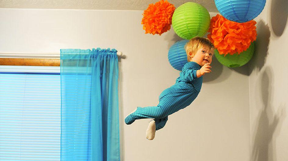 Este pai fez seu filho com Síndrome de Down voar