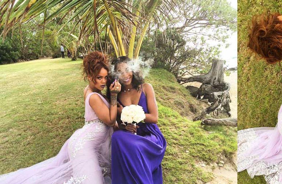 Rihanna, la anti dama de honor de una boda