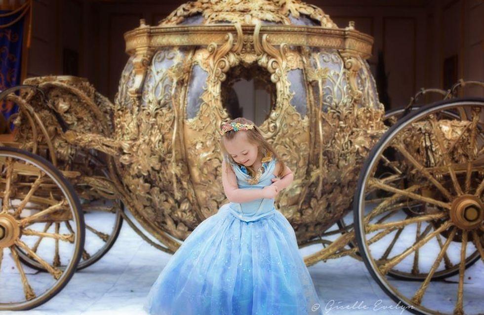 Cette maman transforme sa petite fille en princesse pour montrer qu'elle est une enfant comme les autres (photos)