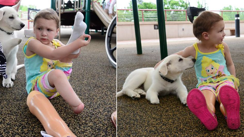 Was dieses kleine Mädchen und ihr Hund gemeinsam haben, ist unglaublich und ergreifend