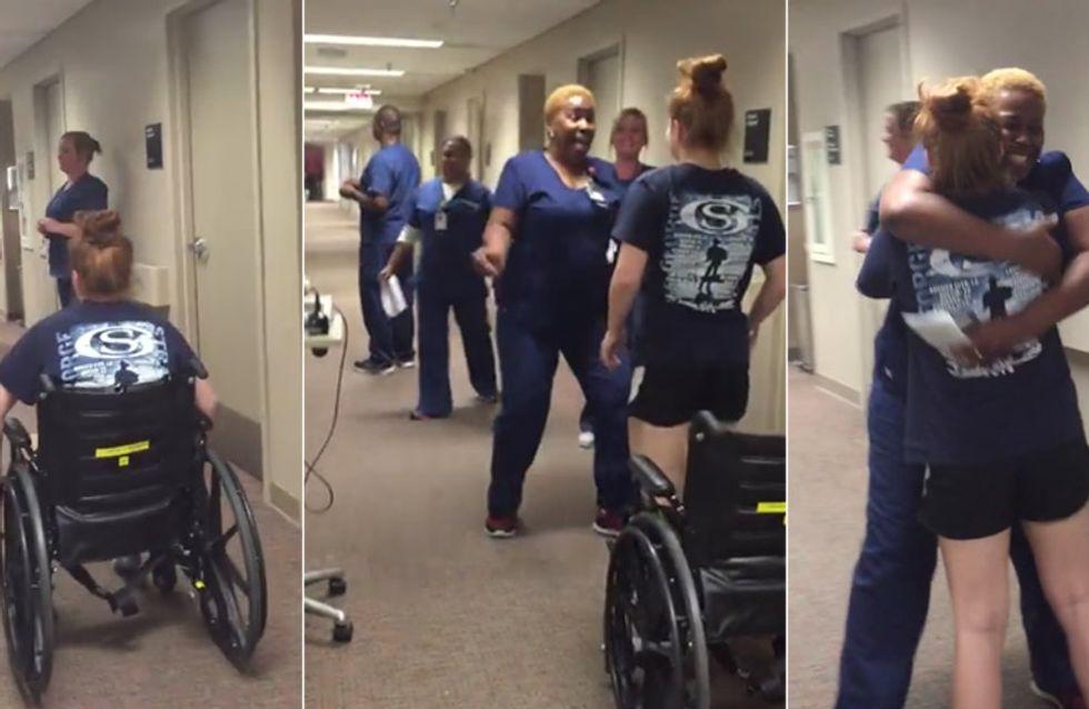 Tränen garantiert: Diese Patientin hat eine riesen Überraschung für ihre Krankenschwester