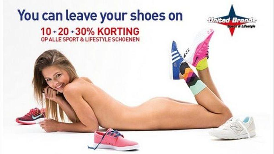 Chaussures, nudité et publicité, un trio qui dérange en Belgique (Photos)
