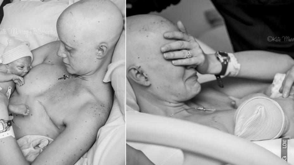 Diese Bilder von einer Mutter und ihrem Neugeborenen gehen durch Mark und Bein