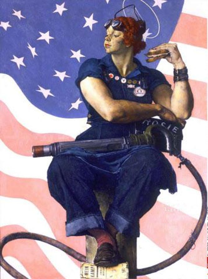 Rosie the Riveter de Norman Rockwell