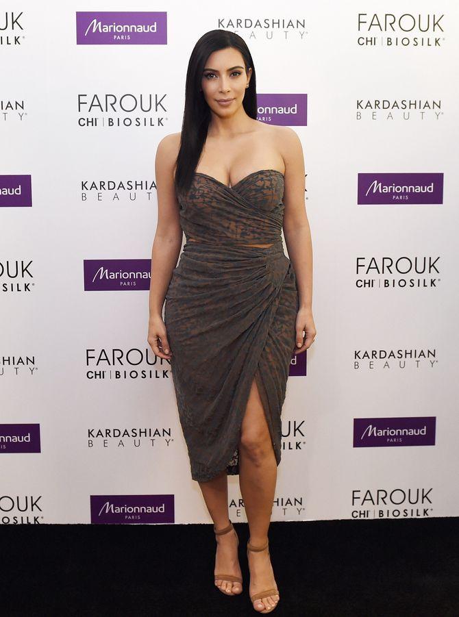 Kim Kardashian à un événement.