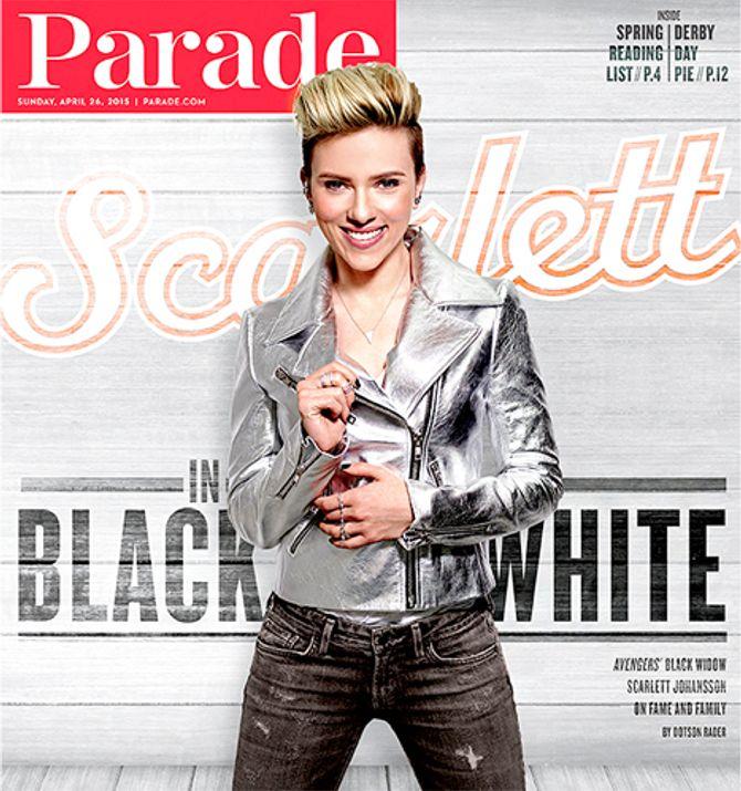 Scarlett Johansson en Une de Parade.