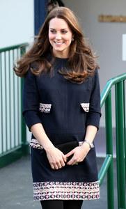 Kate Middleton souriante.