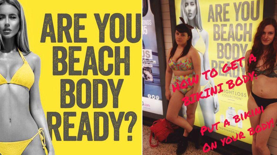 Ist deine Strandfigur bereit? Frauen wehren sich gegen dieses diskriminierende Plakat
