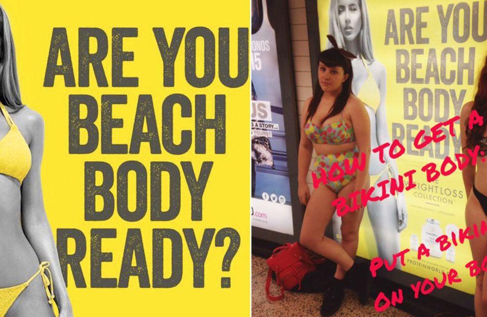 """""""Ist deine Strandfigur bereit?"""" Frauen wehren sich gegen dieses diskriminierende Plakat"""