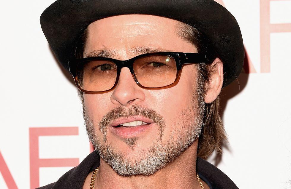 Brad Pitt blessé au visage