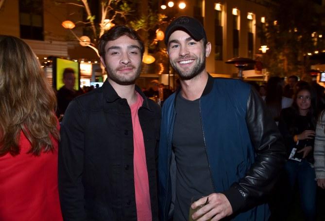 Chace Crawford et Ed Westwick à Los Angeles, le 26 avril 2015