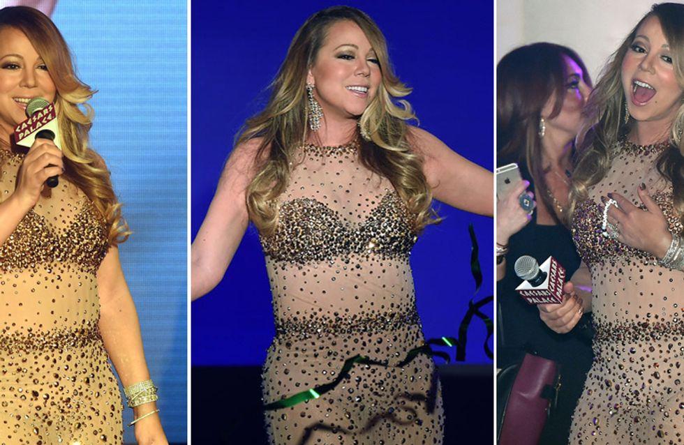 Mariah, sei sicura di aver scelto il giusto outfit? Ecco l'eccentrico look sfoggiato dalla Carey