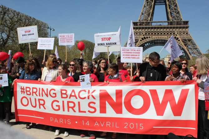 Manifestation Bring Back Our Girls Paris avril 2015