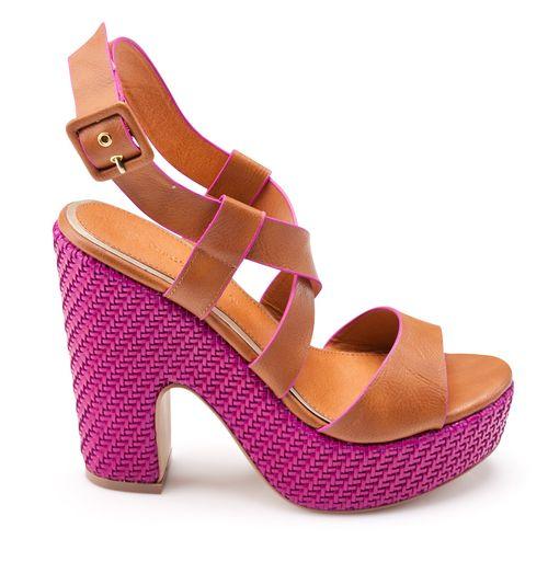 Sandales à talon et plateforme tressé - 3Suisses Collection : 59 €