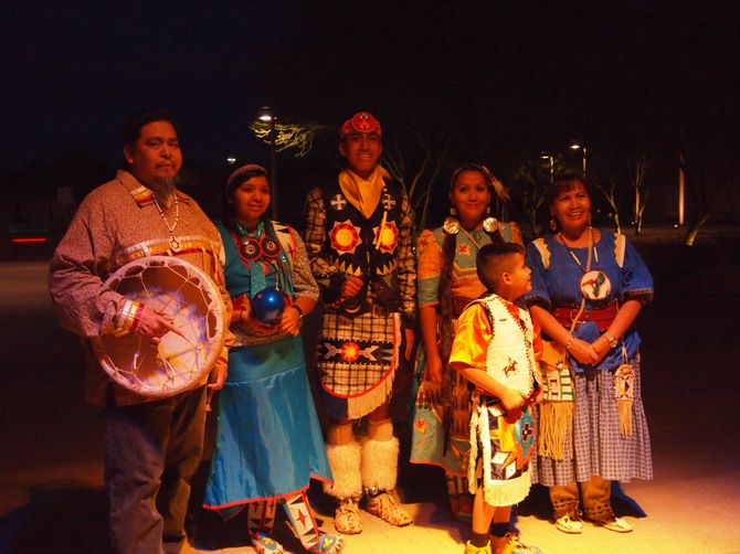 Performance artistique 100% navajo au Talking Stick Resort