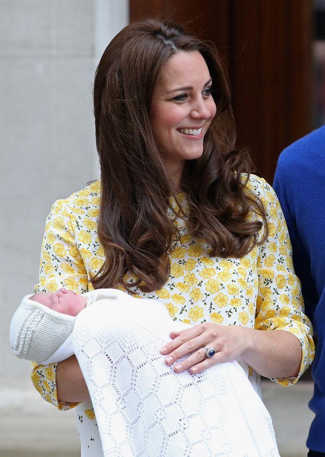 Kate Middleton, le 2 mai 2015, après son accouchement