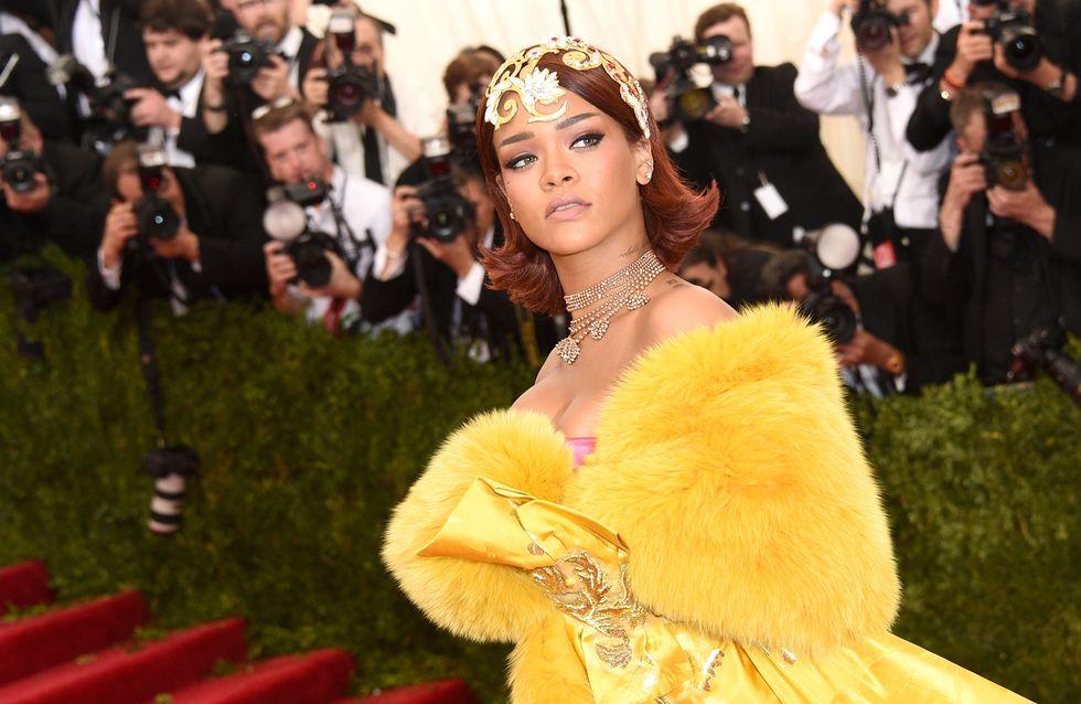 La robe jaune de Rihanna au Met Ball détournée par les internautes