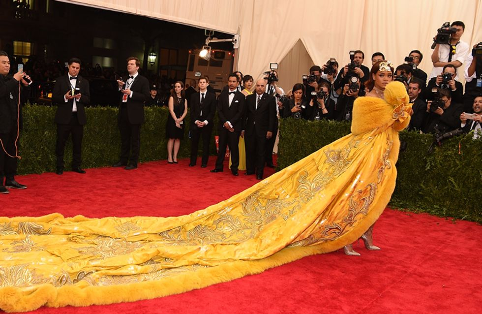 The Internet Had A Lot To Say About Rihanna's Met Gala Ball Gown