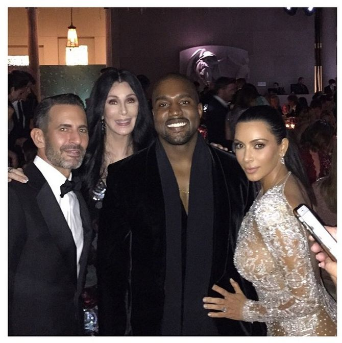 Marc Jacobs, Cher, Kanye West & Kim Kardashian