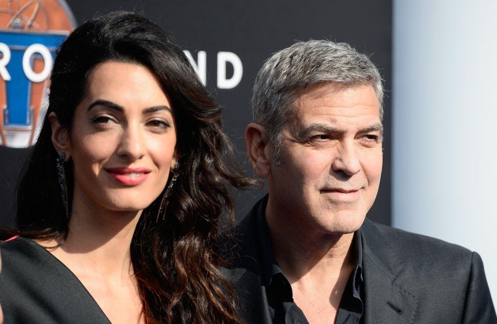 George Clooney et Amal Alamuddin, amoureux et en famille sur le red carpet (Photos)