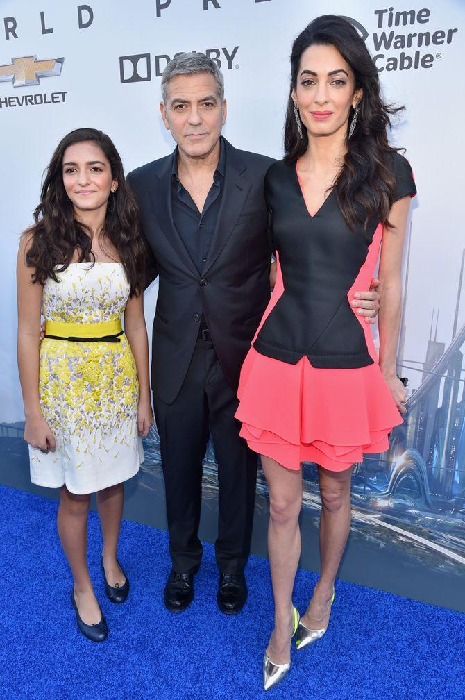 George Clooney, Amal Alamuddin et sa nièce Mia à l'avant-première