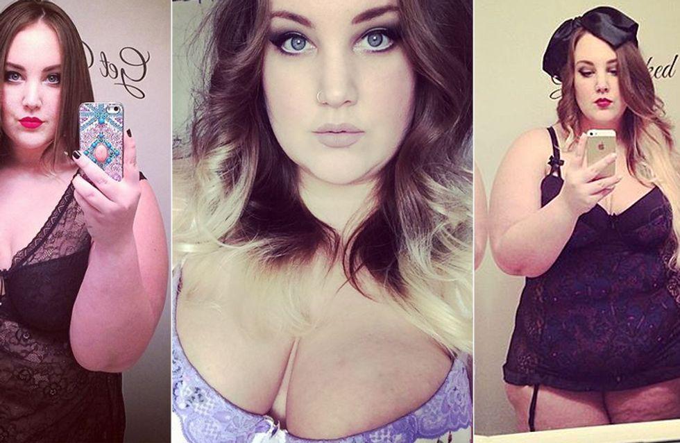 Diese Plus-Size-Bloggerin postete jeden Tag ein Unterwäsche-Selfie