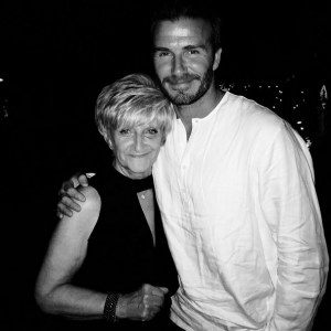 David Beckham et sa mère