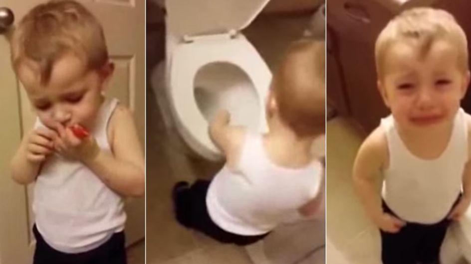 Herzergreifender Abschied: So süß trauert ein kleiner Junge um seinen Goldfisch