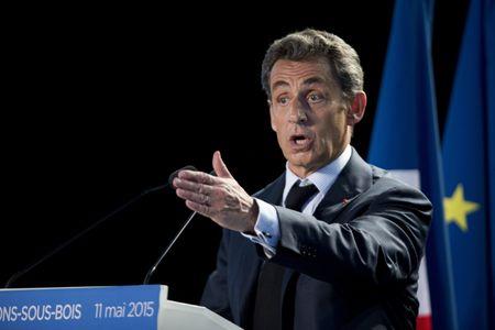 Nicolas Sarkozy à Pavillon-sous-bois, le 11 mai