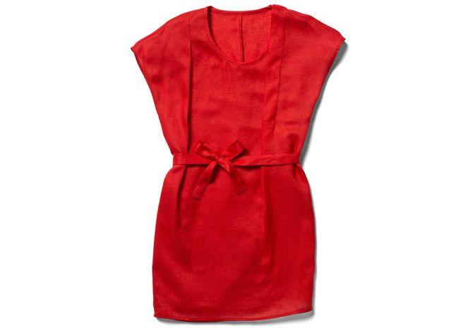 Robe rouge en coton Tex by KT - 99 €