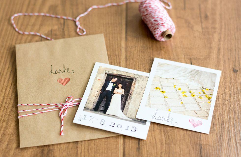 Vintage-DIY: Schicke Dankeskarten für eure Hochzeit basteln