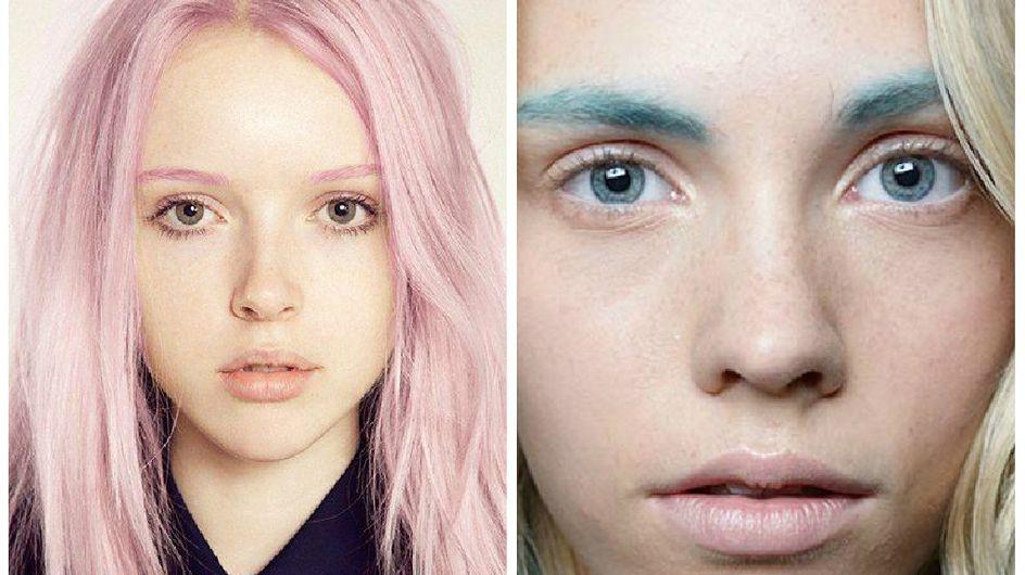 Le sourcil coloré, une tendance beauté qui nous laisse perplexe
