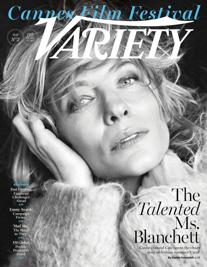 Cate Blanchett en couverture de Variety