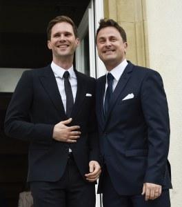 Xavier Bettel (droite) et son compagnon Gauthier Destenay