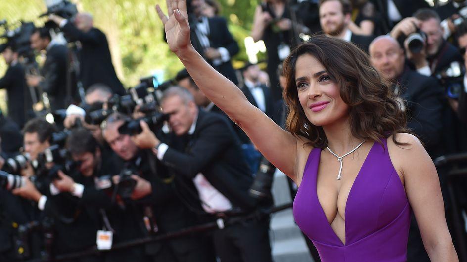 La robe de Salma Hayek fait un malheur à Cannes (Photos)