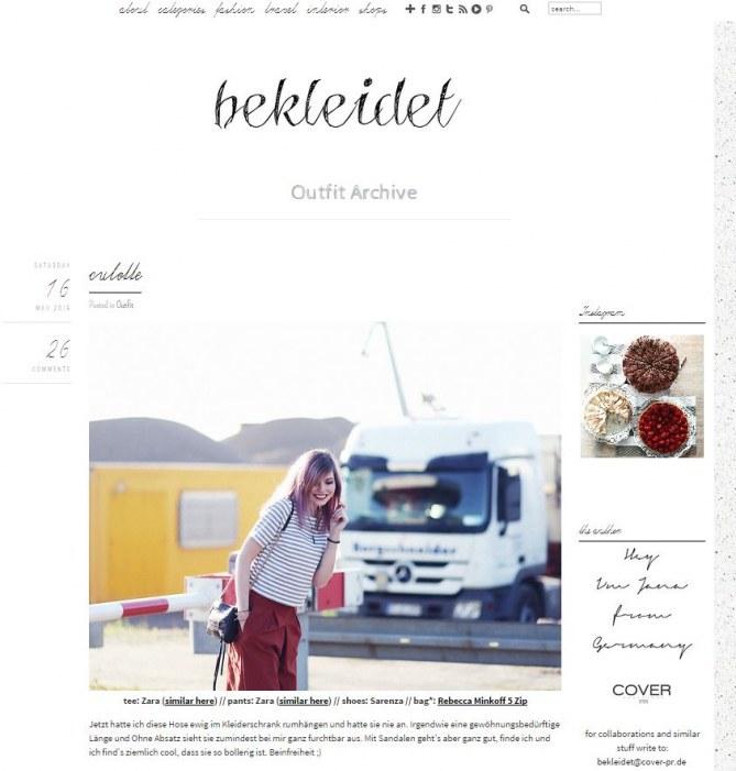 Die besten Fashion-Blogs aus Deutschland: bekleidet.net