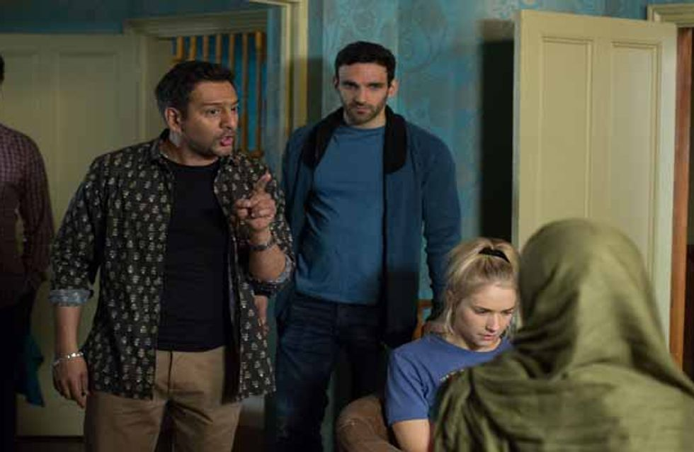 Eastenders 25/05 - Kush and Shabnam celebrate their engagement