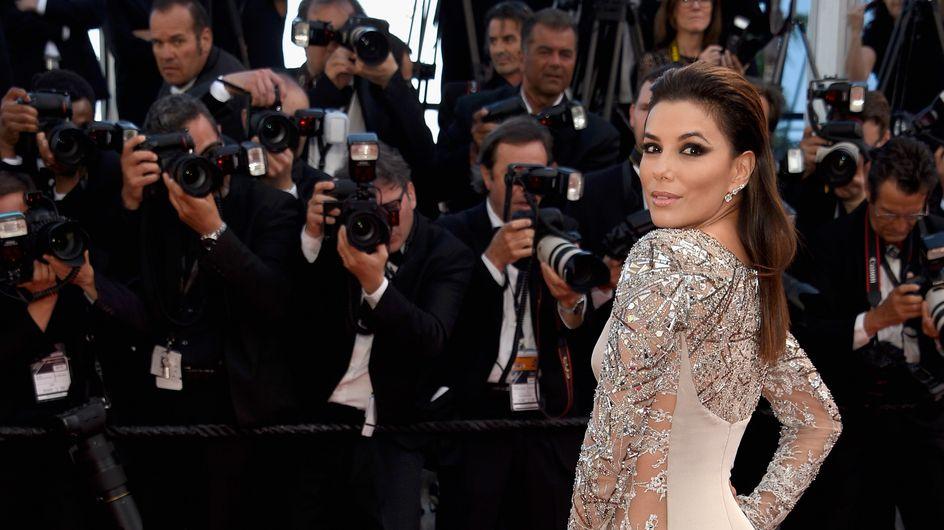 Eva Longoria dévoile ses courbes dans une robe très transparente à Cannes (Photos)