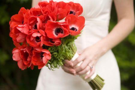 Anemonen im Brautstrauß