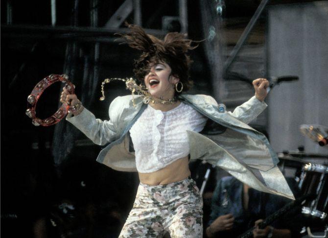 Madonna en concert en 1980