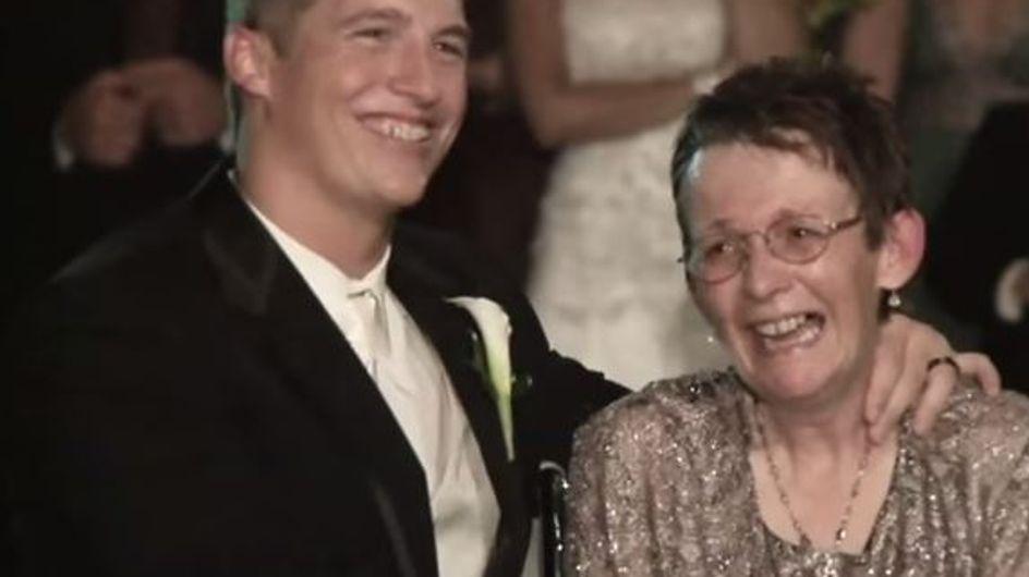 Sa maman a beau être très malade, ce jeune marié a souhaité partager sa première danse avec elle