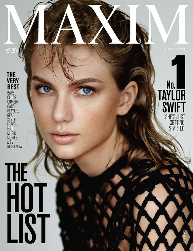 Taylor Swift en couverture de Maxim