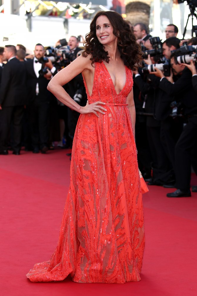Andie MacDowell au Festival de Cannes 2015