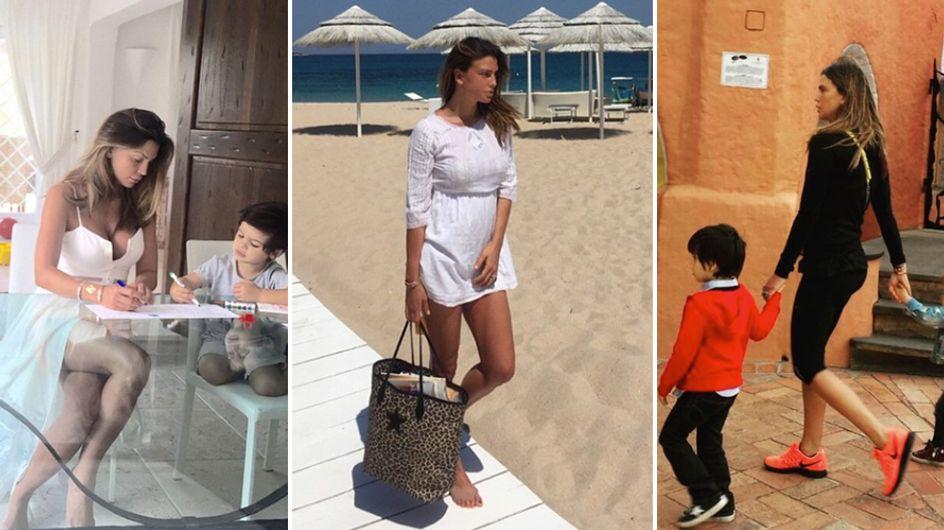 Claudia Galanti, vacanze in Sardegna con i figli. I suoi scatti social più belli!