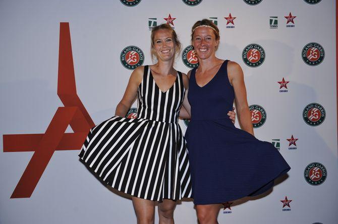 Pauline Parmentier à la soirée des joueurs pour Roland Garros