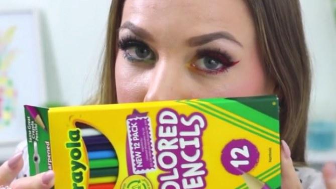 La tendance maquillage crayola