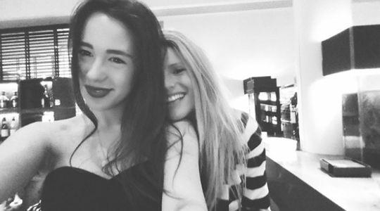 Michelle insieme alla figlia Aurora