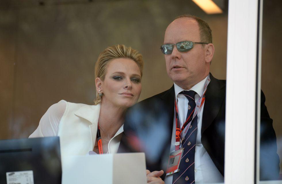 La princesse Charlène et Albert II de Monaco très proches lors du Grand Prix de Monaco (Photos)